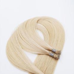 最もよい品質のマイクロリングの先端のRemyの人間の毛髪の拡張乾燥した無しもつれの前担保付きの毛の拡張を取除かないこと