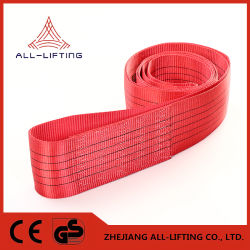 5t infinies en polyester tissé plat sangle de levage industriel de la courroie d'élingue