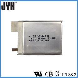 Lithium-Polymer-Plastik Lipo303443 350mAh 3.7V Li-Ionbatterie für Laptop