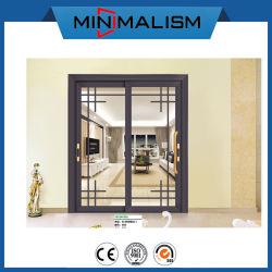 Porte coulissante en aluminium/modèle de diapositive de verre Double vitrage/ claire pour la salle d'étude