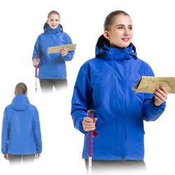 人およびWowemenのための新しく取り外し可能なフードの防風の通気性の暖かいコート