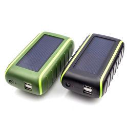 6000mAh Manivelle de la Banque d'énergie solaire Chargeur Batterie de téléphone universel