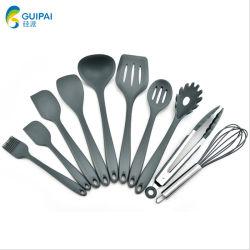 Venda por grosso de Silicone utensílios utensílios de cozinha não Stick 10 Pedaço de Silicone utensílios de cozinha