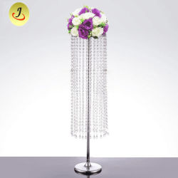 Стекло Long-Stemmed свеча держатель для свадьбы настольное украшение цветок во главу угла
