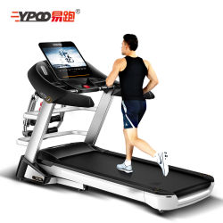 Salle de gym Ypoo du matériel de fitness de l'exercice de la machine sur tapis roulant pliable tapis de course de remise en forme d'accueil