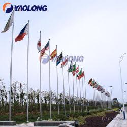 15m im Freien manuelles Laufwerk-zeremonieller Aluminiumfahnenmast mit Befestigungen