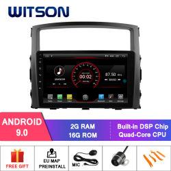 Android Witson 9.0 aluguer de DVD do sistema de navegação GPS para a Mitsubishi Pajero 2006-2012