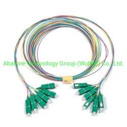 12 kleuren G657A2 Optic Fiber Pigtails OEM/ODM SC-APC, Lcupc