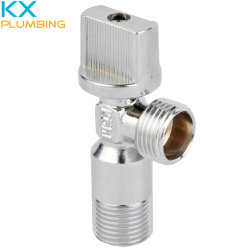 """Латунные угол клапан 1/2"""" с пластиковой ручкой Kx-AV007"""
