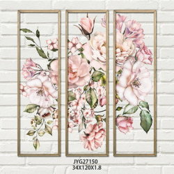 Belüftung-Wand-Abbildung mit hölzernem Rahmen, Druck mit rosafarbener Blume