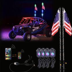 Los látigos de LED y 4X Kit combinado de la luz de Rock