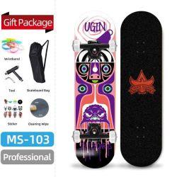 Skateboards-StandardSkateboards mit bunter Plattform beenden