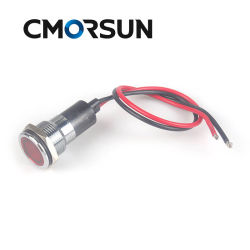 مصباح مؤشر LED الخاص بلوحة LED أحمر، موديل Ar28tl-16 220 فولت مصباح دليلي وامض صغير مع سلك