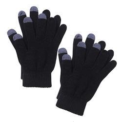 Guanto unisex caldo lavorato a maglia dello schermo di tocco di inverno per gli uomini della donna