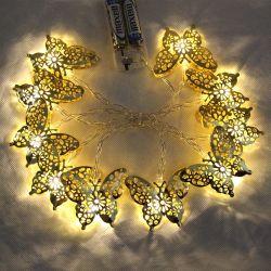 ホーム装飾の暖かく白い蝶電池ライト