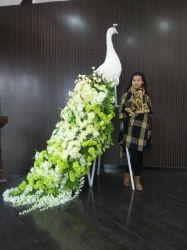 Fleur artificielle Peacock Décoration de mariage et de partie
