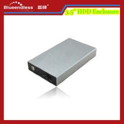 Plein de 3,5 pouces en aluminium brillant Surface métallique du boîtier de disque dur