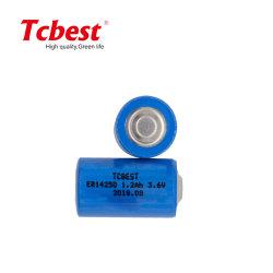 بطارية ليثيوم قابلة للاستخدام مرة واحدة فقط بقدرة 3.6 فولت غير قابلة لإعادة الشحن في المصنع 1200 مللي أمبير/ثانية حجم ليسوكل2 قابلة للاستخدام مرة واحدة خطأ في البطارية 14250 للكاميرا الرقمية أو الهاتف المحمول مع BSCI