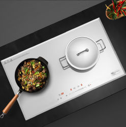 Fornello bianco di Cooktop di induzione di offerta di risparmio di energia del fornitore della Cina di prezzi del doppio 2 del fornello magnetico ultra sottile di induzione