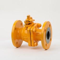 API de DN15 la brida de acero inoxidable sólido Válvula de bola de gas combustible