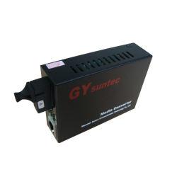 Gestão SNMP 10/100Mbps Conversor de mídia de fibra duplo (GY-S15F3-04SS-20A-M)