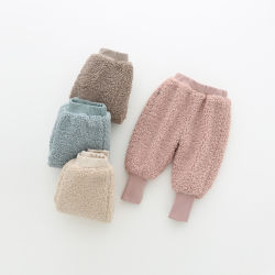 Kind-Winter-warmes Rüttler-Hose-Baby beiläufige flaumige Sherpa Vlies-Hosen des Großverkauf-2020 für Jungen-Mädchen