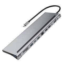 신제품 12 in 1 3.1 USB C Type C MacBook용 도킹 허브 어댑터 4K