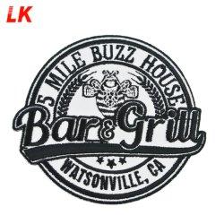 Design personalizado e o logotipo personalizado Bordados Monograma Patches Bordados Patch para acessórios de vestuário