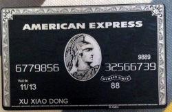 아메리칸 익스프레스 까만 백부장 은행 크레디트 카드 금속은 중대한 선물 주문을 받아서 만든다
