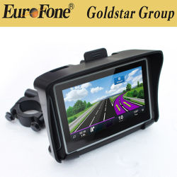"4.3 "" Bluetooth 접촉 스크린 기관자전차 차 차량 GPS 항법"