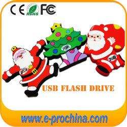 Nova Venda Arrivalhot PVC Santa Claus Unidade Flash USB para amostra grátis