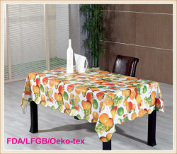 Impermeável Printed PVC Fancy Wedding Table Cloths