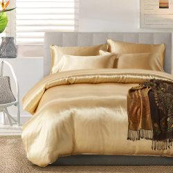 Insieme di seta del coperchio del Comforter del Duvet del raso ultra delicatamente lussuoso