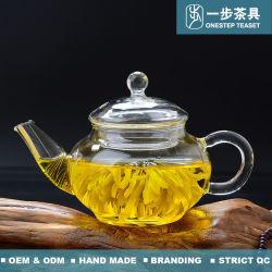 Boroslicate tetera de vidrio con filtro y el Infuser