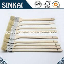 Загнуть краски щетки с длинной деревянной ручкой
