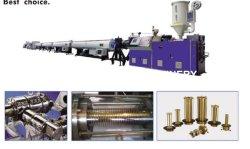 extrusora de fuso simples PE PEAD PPR extrusão do tubo da linha de produção