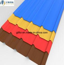 مواد البناء Gi/PPGI/PPGL/Prepinted /Zinc Coated Color Coated Coated Coperab&ورقة مسقوف من الفولاذ المضلع