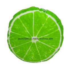 Cojín de felpa suave verde limón