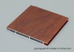 고품질 6061 6063 나무 그레인 산화 알루미늄 루브르 프로파일