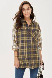 Camicia personalizzata dell'assegno mista maternità casuale per gli stili caldi di Mather
