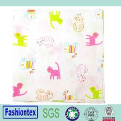 De hete Zakdoeken van de Handdoeken van het Patroon van de Kat van de Jonge geitjes van de Verkoop drukt Mousseline af afveegt