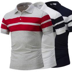Camisetas personalizadas de alta calidad OEM para los hombres Stripe Polo Golf