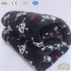 Cheap flanelle Couverture en laine polaire Soft Skull imprimé drap de lit couverture