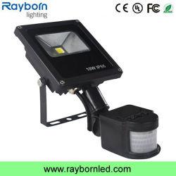 Capteur de mouvement IP65 professionnel extérieur Projecteur LED 10W