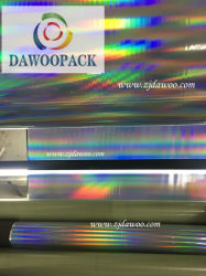 16microns Rainbow holographique de feuilles en PET transparent
