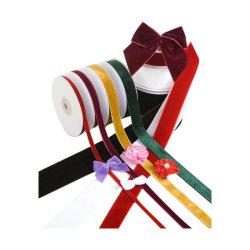 Сплошной цвет низкой цене волокнистой и лучшие продажи бархатной лентой для украшения/Рождество/Группа/подарочной упаковки