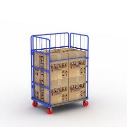 Pousser chariot pratique panier Chariot de livraison pour l'entrepôt