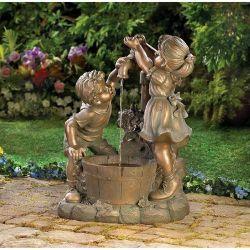 Artesanato grande de metal fundido Tamanho Vida Crianças estátua de bronze/Escultura