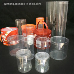 Cilindro de OEM de la caja de embalaje de plástico transparente (tubo)