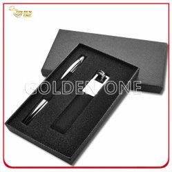 高品質の金属クリックのペンおよびキーホルダーのギフトセット